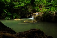 Cascade Of Erawan Waterfall, Thailand Royalty Free Stock Photography