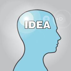 Idea Head Stock Photography
