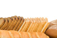Free Bread On White Stock Image - 20948261