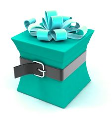 Beautiful Gift Box On A Diet Royalty Free Stock Images