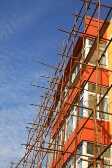Free Scaffold In Construction Site Royalty Free Stock Images - 20948919