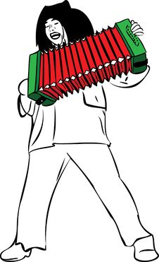 Free A Man Sings And Plays Accordion Stock Photo - 20949130