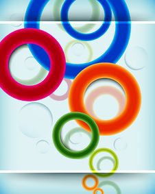 Free Multicolor Circular Design Background Stock Image - 20949291