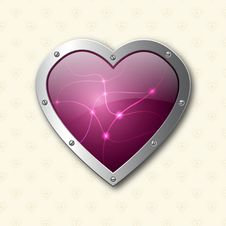 Free Purple Elegant Heart Background Stock Photo - 20949510