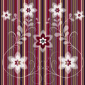 Free Floral Striped Seamless Pattern Stock Images - 20950914