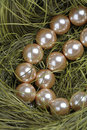 Free Necklace From Artificial Gold Pearls Stock Photography - 20951012