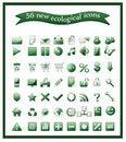 Free Popular Ecological Icons Stock Photo - 20951900