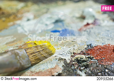 Free Color Palette Royalty Free Stock Image - 20955266