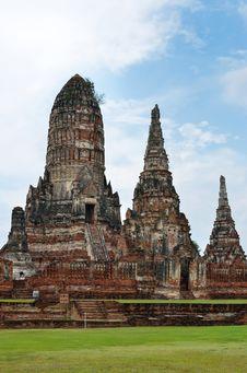 Free Wat Chai Wattanaram, Ayutthaya, Thailand. Royalty Free Stock Photos - 20950938