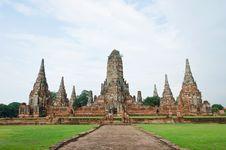 Free Wat Chai Wattanaram, Ayutthaya, Thailand. Stock Photo - 20950950