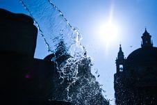 Piazza Del Popolo , Rome. Royalty Free Stock Photo