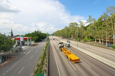 Free Highway In Hong Kong With Moving Cars Stock Images - 20952964