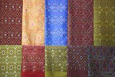 Silk Fabric Cloth Background Stock Photo
