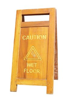 Free Sign Showing Warning Of Caution Wet Floor Royalty Free Stock Images - 20953899