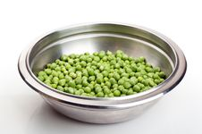 Free Fresh Green Peas In A Metal Plate Royalty Free Stock Photos - 20954008