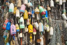 Free Fishing Buoys Royalty Free Stock Photo - 20954195