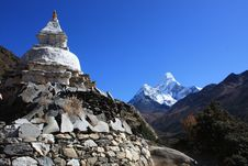 Free Nepal Ama Dablam Royalty Free Stock Photography - 20954367