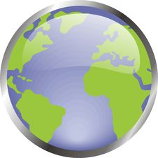 Free Earth In Crystal Button Royalty Free Stock Images - 20955339