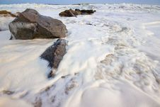 Foamy Surf Royalty Free Stock Images