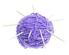 Free A Ball Of Thread And Knitting Needles Stock Photos - 20955773