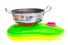 Child Plastic Pot Cooking Toy Royalty Free Stock Photo