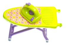 Toy Iron And Ironing Board Royalty Free Stock Image