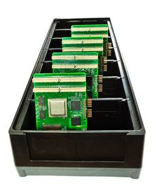 Free Several Printed Circuit Boards In A Container Stock Photo - 20955820