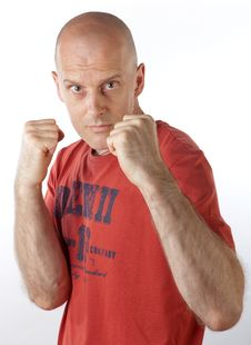 Free Man Appears Ready To Fight For Stock Photos - 20956433
