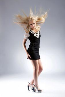 Free Fashion Beautiful Blond Woman Royalty Free Stock Image - 20956736