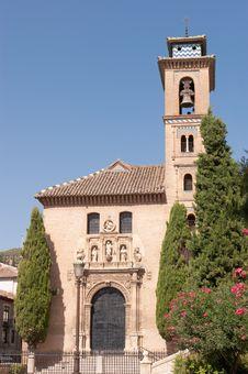 Free Iglesia De San Gil Y Santa Ana In Granada Royalty Free Stock Image - 20956966