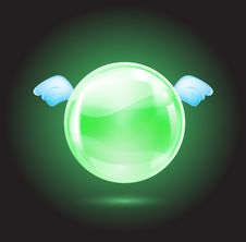 Free Green Crystal Ball Stock Images - 20957174