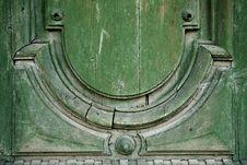 Free Green Wooden Door Decor Stock Images - 20957664