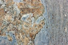 Blue And Red Granite Texture Royalty Free Stock Photo