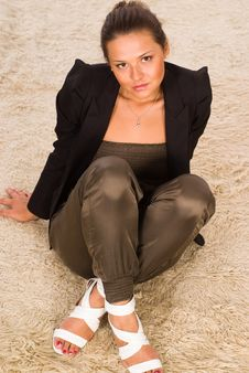Free Girl On A Carpet Stock Photography - 20958282