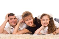 Free Cute Family Lying Royalty Free Stock Photography - 20958367