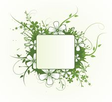 Free Floral Design. Vector Illustration Royalty Free Stock Image - 20958556