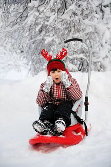 Free Adorable Child Girl In Horned Hat Stock Photos - 20958893