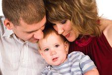 Free Cute Family At Sofa Royalty Free Stock Photos - 20959218
