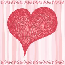 Pink Big Heart Stock Image
