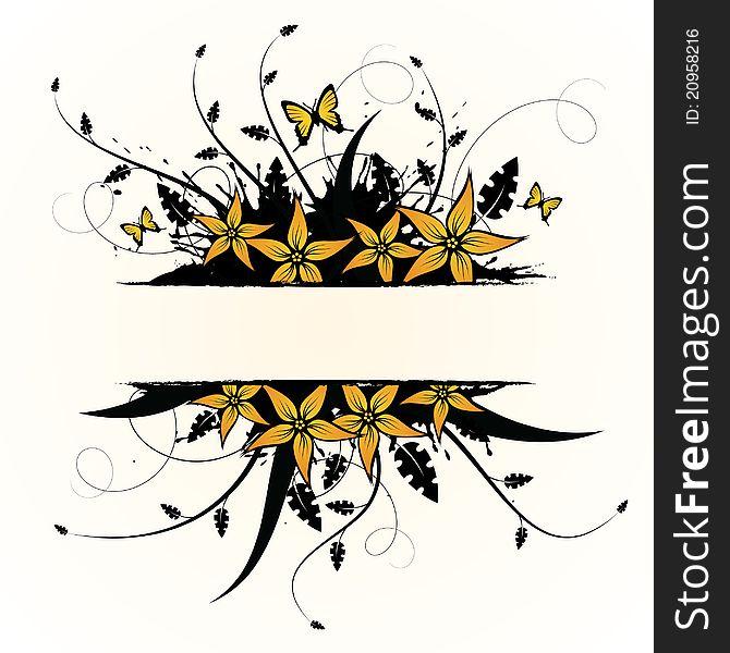 Floral design. Vector illustration