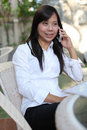 Free Working Women Talking Mobile Phone Royalty Free Stock Photo - 20961775
