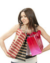 Free Young Woman With Shopping Bags Buying Present Stock Images - 20962804