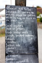 Free Restaurant Or Cafe Blackboard Sign Stock Photography - 20963232