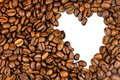 Free Roasted Coffee Beans And The Shape Of The Heart. Royalty Free Stock Photo - 20965935