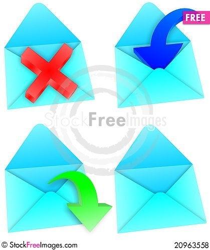Free Envelopes Royalty Free Stock Photos - 20963558