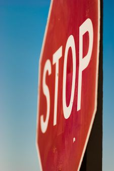 Stop Sign Dramatic Angle Royalty Free Stock Image