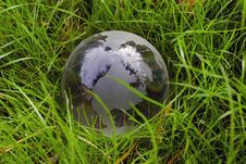 Free Crystal-clear Globe In The Green Grass Stock Photos - 20960543