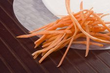 Free Rice Paper And Carrots Royalty Free Stock Images - 20960899