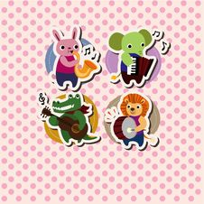 Free Animal Music Card Stock Photo - 20961060