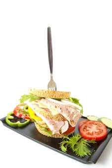 Free Big Meal Cheese Sandwich Royalty Free Stock Images - 20961289